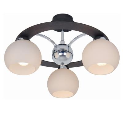 Люстра Lamplandia 3166-3 PatoПотолочные<br>Классическая модель выполнена из металла цвета хром-темно-коричневый, с деревянными вставками цвета Венге<br><br>Установка на натяжной потолок: Да<br>S освещ. до, м2: 8<br>Крепление: Планка<br>Тип лампы: накаливания / энергосбережения / LED-светодиодная<br>Тип цоколя: E14<br>Количество ламп: 3<br>Ширина, мм: 430<br>MAX мощность ламп, Вт: 40<br>Длина, мм: 430<br>Высота, мм: 250