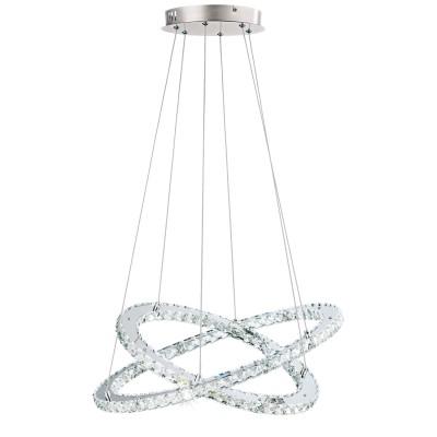 Eglo VARRAZO 31667 Подвесной светильникПодвесные<br>Светодиодный подвес VARRAZO, 29,6W (LED), ?550, H1200, сталь, хром/хрусталь, прозрачный применяется преимущественно в домашнем освещении с использованием стандартных выключателей и переключателей для сетей 220V.<br><br>Установка на натяжной потолок: Да<br>S освещ. до, м2: 12<br>Цветовая t, К: 4000<br>Тип лампы: LED - светодиодная<br>Тип цоколя: LED<br>Цвет арматуры: серебристый<br>Количество ламп: 1<br>Диаметр, мм мм: 550<br>Высота, мм: 1200<br>MAX мощность ламп, Вт: 30