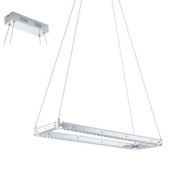 Eglo VARRAZO 31669 Подвесной светильникПодвесные<br>Светодиодный подвес VARRAZO, 17W (LED), L800, B250, H1000, сталь, хром/хрусталь, прозрачный применяется преимущественно в домашнем освещении с использованием стандартных выключателей и переключателей для сетей 220V.<br><br>Установка на натяжной потолок: Да<br>S освещ. до, м2: 7<br>Цветовая t, К: 4000<br>Тип лампы: LED - светодиодная<br>Тип цоколя: LED<br>Цвет арматуры: серебристый<br>Количество ламп: 1<br>Ширина, мм: 250<br>Длина, мм: 800<br>Высота, мм: 1000<br>MAX мощность ламп, Вт: 17