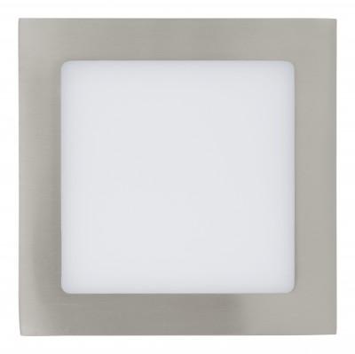 Eglo FUEVA 1 31673 Встраиваемые и накладные светильникиКвадратные<br>Встраиваемые светильники – популярное осветительное оборудование, которое можно использовать в качестве основного источника или в дополнение к люстре. Они позволяют создать нужную атмосферу атмосферу и привнести в интерьер уют и комфорт.   Интернет-магазин «Светодом» предлагает стильный встраиваемый светильник Eglo 31673. Данная модель достаточно универсальна, поэтому подойдет практически под любой интерьер. Перед покупкой не забудьте ознакомиться с техническими параметрами, чтобы узнать тип цоколя, площадь освещения и другие важные характеристики.   Приобрести встраиваемый светильник Eglo 31673 в нашем онлайн-магазине Вы можете либо с помощью «Корзины», либо по контактным номерам. Мы развозим заказы по Москве, Екатеринбургу и остальным российским городам.<br><br>Цветовая t, К: 3000 (теплый белый)<br>Тип цоколя: LED<br>Ширина, мм: 170<br>MAX мощность ламп, Вт: 29<br>Размеры основания, мм: 0<br>Диаметр врезного отверстия, мм: 25<br>Длина, мм: 170<br>Цвет арматуры: серебристый<br>Общая мощность, Вт: 10,95W