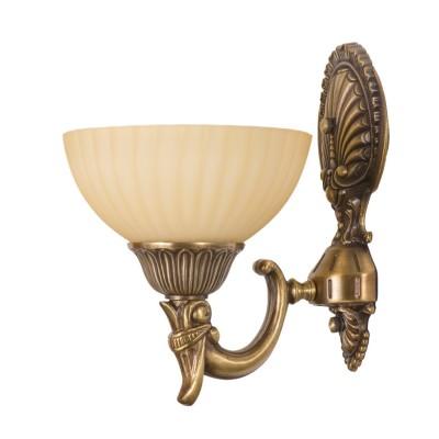 Светильник настенный бра Mw light 317020101 АфродитаКлассические<br><br><br>S освещ. до, м2: 3<br>Тип лампы: накаливания / энергосбережения / LED-светодиодная<br>Тип цоколя: E27<br>Количество ламп: 1<br>Ширина, мм: 180<br>MAX мощность ламп, Вт: 60<br>Длина, мм: 260<br>Расстояние от стены, мм: 260<br>Высота, мм: 220<br>Поверхность арматуры: глянцевый, рельефный<br>Цвет арматуры: бронзовый<br>Общая мощность, Вт: 60