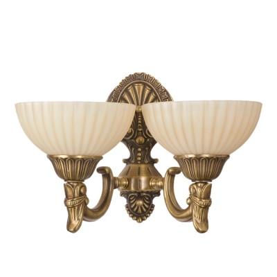 Светильник настенный бра Mw light 317020202 АфродитаКлассические<br><br><br>S освещ. до, м2: 6<br>Тип лампы: накаливания / энергосбережения / LED-светодиодная<br>Тип цоколя: E27<br>Количество ламп: 2<br>Ширина, мм: 350<br>MAX мощность ламп, Вт: 60<br>Длина, мм: 260<br>Расстояние от стены, мм: 260<br>Высота, мм: 190<br>Поверхность арматуры: глянцевый, рельефный<br>Цвет арматуры: бронзовый<br>Общая мощность, Вт: 120