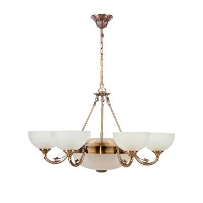 Люстра Mw light 318011408 ОлимпПодвесные<br>Описание модели 318011408: Дизайн светильников из коллекции «Олимп» пронизан духом античности. Матово-белые, как облака, полусферы плафонов направлены вверх, что делает освещение рассеянным, но, тем не менее, достаточно ярким. Алюминиевая арматура основания гальванизирована в цвет античной бронзы и декорирована под старину, элементы ее украшения и рельеф выполнены в греческом стиле. Люстры и бра украсят собой гостиную, спальню или холл с античным или классическим интерьером. Высота потолочных светильников регулируется за счет длины подвеса. Рекомендуемая площадь освещения порядка 24 кв.м.<br><br>Установка на натяжной потолок: Да<br>S освещ. до, м2: 24<br>Крепление: Крюк<br>Тип лампы: накаливания / энергосбережения / LED-светодиодная<br>Тип цоколя: E27<br>Цвет арматуры: серый<br>Количество ламп: 8<br>Диаметр, мм мм: 800<br>Длина цепи/провода, мм: 270<br>Высота, мм: 900<br>MAX мощность ламп, Вт: 60<br>Общая мощность, Вт: 480