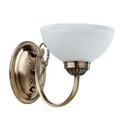 Светильник настенный бра Mw light 318024201 ОлимпКлассические<br>Описание модели 318024201: Классическая форма светильника из коллекции Олимп настраивает на торжественный лад. Он прекрасно впишется в строгий интерьер зала , а также станет удачным дополнением в современном пространстве с классической мебелью и фарфоровыми декоративными статуэтками. Металлическое основание цвета античной бронзы украшено изящным декором растительной тематики и прозрачным хрусталём. Стеклянные плафоны изготовлены с добавлением алебастра.<br><br>S освещ. до, м2: 3<br>Цветовая t, К: 3000<br>Тип лампы: накаливания / энергосберегающая / светодиодная<br>Тип цоколя: E14<br>Цвет арматуры: бронзовый<br>Количество ламп: 1<br>Ширина, мм: 170<br>Длина, мм: 180<br>Высота, мм: 280<br>Поверхность арматуры: матовый<br>MAX мощность ламп, Вт: 60<br>Общая мощность, Вт: 60