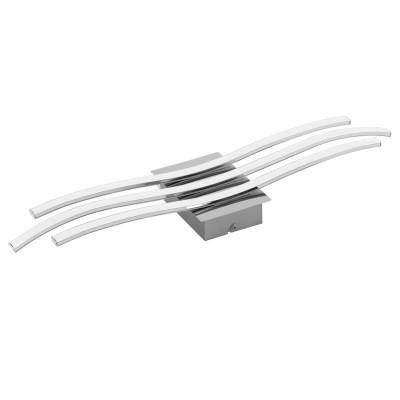 Eglo RONCADE 31995 Настенно-потолочный светильникДекоративные<br>Светодиодный настенно-потолочный светильник RONCADE, 26W (LED), L650, B130, сталь, хром/пластик, белый применяется преимущественно в домашнем освещении с использованием стандартных выключателей и переключателей для сетей 220V.<br><br>S освещ. до, м2: 10<br>Цветовая t, К: 3000<br>Тип лампы: LED - светодиодная<br>Тип цоколя: LED<br>Количество ламп: 1<br>Ширина, мм: 130<br>MAX мощность ламп, Вт: 26<br>Длина, мм: 650<br>Высота, мм: 45<br>Цвет арматуры: серебристый