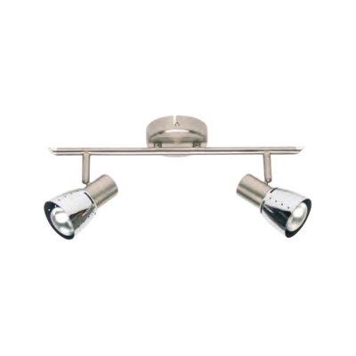 Светильник Brilliant 39513/77 LavaДвойные<br><br><br>S освещ. до, м2: 5<br>Тип товара: Светильник поворотный спот<br>Тип лампы: накал-я - энергосбер-я<br>Тип цоколя: E14<br>Количество ламп: 2<br>Ширина, мм: 400<br>MAX мощность ламп, Вт: 40<br>Выступ, мм: 180<br>Длина, мм: 400<br>Цвет арматуры: серебристый