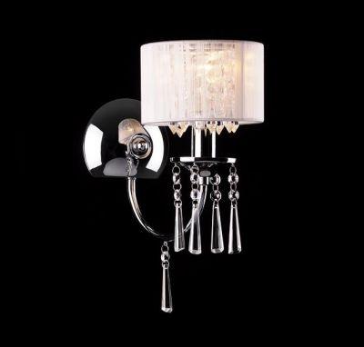 Светильник бра Евросвет 3201/1Хрустальные<br><br><br>S освещ. до, м2: 2<br>Тип лампы: накаливания / энергосбережения / LED-светодиодная<br>Тип цоколя: E14<br>Цвет арматуры: серебристый<br>Количество ламп: 1<br>Ширина, мм: 270<br>Длина, мм: 170<br>Высота, мм: 350<br>MAX мощность ламп, Вт: 60