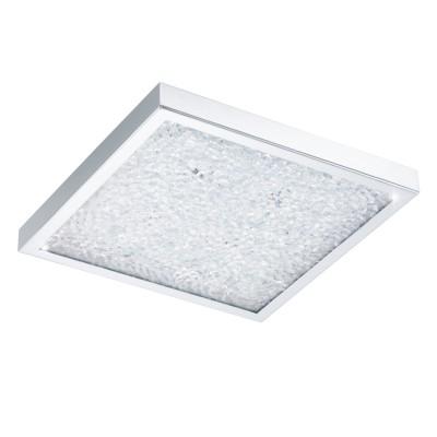 Eglo CARDITO 32025 Настенно-потолочный светильник LEDКвадратные<br>Светодиодный потолочный светильник CARDITO, 16W (LED), 320x320, сталь, хром/стекло, хрусталь, прозрачный применяется преимущественно в домашнем освещении с использованием стандартных выключателей и переключателей для сетей 220V.<br><br>S освещ. до, м2: 6<br>Цветовая t, К: 4000<br>Тип лампы: LED - светодиодная<br>Тип цоколя: LED<br>Цвет арматуры: серебристый<br>Количество ламп: 1<br>Ширина, мм: 320<br>Длина, мм: 320<br>Высота, мм: 55<br>MAX мощность ламп, Вт: 16