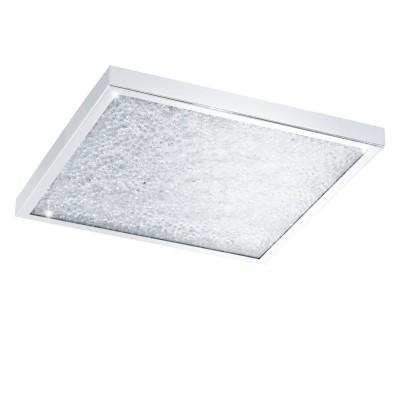 Eglo CARDITO 32026 Настенно-потолочный светильник LEDКвадратные<br>Светодиодный потолочный светильник CARDITO, 4х6,7W (LED), 440x440, сталь, хром/стекло, хрусталь, прозрачный применяется преимущественно в домашнем освещении с использованием стандартных выключателей и переключателей для сетей 220V.<br><br>S освещ. до, м2: 11<br>Цветовая t, К: 4000<br>Тип лампы: LED - светодиодная<br>Тип цоколя: LED<br>Цвет арматуры: серебристый<br>Количество ламп: 4<br>Ширина, мм: 440<br>Длина, мм: 440<br>Высота, мм: 55<br>MAX мощность ламп, Вт: 7