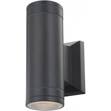 Светильник Globo 32028-2 GantarХай-тек<br><br><br>Тип товара: Светильник настенный уличный<br>Скидка, %: 21<br>Тип лампы: галогенная / LED-светодиодная<br>Тип цоколя: GU10 LED<br>Количество ламп: 2<br>Ширина, мм: 65<br>MAX мощность ламп, Вт: 5<br>Длина, мм: 65<br>Высота, мм: 155<br>Цвет арматуры: серый