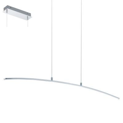 Eglo LASANA 32048 Подвесной светильникСветодиодные<br>Cветодиодный подвес LASANA, 14W (LED), L900, H1000, сталь, алюминий, хром/пластик, белый применяется преимущественно в домашнем освещении с использованием стандартных выключателей и переключателей для сетей 220V.<br><br>S освещ. до, м2: 6<br>Цветовая t, К: 3000<br>Тип лампы: LED - светодиодная<br>Тип цоколя: LED<br>Количество ламп: 1<br>MAX мощность ламп, Вт: 14<br>Длина, мм: 900<br>Высота, мм: 1000<br>Цвет арматуры: серебристый хром