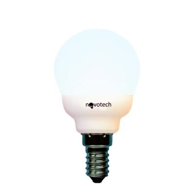 Novotech 321048 Лампа энергосберегающаяВ виде шарика<br>В интернет-магазине «Светодом» можно купить не только люстры и светильники, но и лампочки. В нашем каталоге представлены светодиодные, галогенные, энергосберегающие модели и лампы накаливания. В ассортименте имеются изделия разной мощности, поэтому у нас Вы сможете приобрести все необходимое для освещения.   Лампа Novotech 321048 обеспечит отличное качество освещения. При покупке ознакомьтесь с параметрами в разделе «Характеристики», чтобы не ошибиться в выборе. Там же указано, для каких осветительных приборов Вы можете использовать лампу Novotech 321048Novotech 321048.   Для оформления покупки воспользуйтесь «Корзиной». При наличии вопросов Вы можете позвонить нашим менеджерам по одному из контактных номеров. Мы доставляем заказы в Москву, Екатеринбург и другие города России.<br><br>Цветовая t, К: жёлт.свет<br>Тип лампы: LED - светодиодная<br>Тип цоколя: E14<br>MAX мощность ламп, Вт: 9<br>Диаметр, мм мм: 45<br>Длина, мм: 81