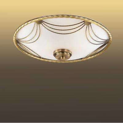 Потолочный светильник Сонекс 2219 бронза/белый SALVAКруглые<br><br><br>S освещ. до, м2: 8<br>Тип товара: Светильник настенно-потолочный<br>Тип лампы: накаливания / энергосбережения / LED-светодиодная<br>Тип цоколя: E27<br>Количество ламп: 2<br>MAX мощность ламп, Вт: 60<br>Диаметр, мм мм: 350<br>Цвет арматуры: бронзовый