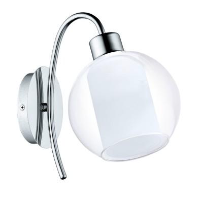 Бра Eglo 32361 Bolsanoсовременные бра модерн<br><br><br>Тип лампы: Накаливания / энергосбережения / светодиодная<br>Тип цоколя: E27<br>Цвет арматуры: серебристый<br>Количество ламп: 1<br>Ширина, мм: 150<br>Расстояние от стены, мм: 240<br>Высота, мм: 235<br>Поверхность арматуры: глянцевая<br>Оттенок (цвет): серебристый<br>MAX мощность ламп, Вт: 60