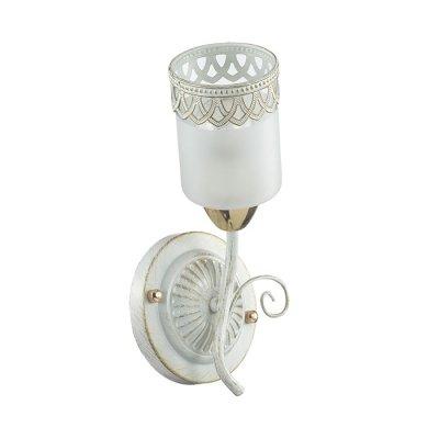 Настенный светильник бра Lumion 3237/1W GAETTAКлассические<br>Бра 3237/1W серии Gaetta оформлена в классическом стиле. Светильник состоит из стеклянного плафона циллиндрической формы с ажурным металлическим декором и арматуры белого с золотой патиной цвета. Великолепие изгибов линий, нежность кружева декораций, мягкость цветовых решений делают данную модель восхитительно роскошной. Цоколь E14. Мощность 1x60W. Нет ламп в комплекте.<br><br>Крепление: Настенное<br>Тип лампы: накаливания / энергосбережения / LED-светодиодная<br>Тип цоколя: E14<br>Количество ламп: 1<br>Ширина, мм: 130<br>MAX мощность ламп, Вт: 60<br>Диаметр, мм мм: 150<br>Длина, мм: 150<br>Высота, мм: 270<br>Цвет арматуры: белый с патиной