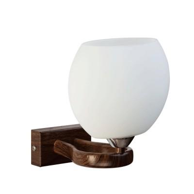Светильник настенный бра Mw light 324021201 АльфаСовременные<br>Крашеное металлическое основание цвета французского дуба и декоративные элементы цвета хрома, плафон из стекла.<br><br>S освещ. до, м2: 3<br>Тип лампы: накаливания / энергосбережения / LED-светодиодная<br>Тип цоколя: E14<br>Количество ламп: 1<br>Ширина, мм: 160<br>MAX мощность ламп, Вт: 60<br>Длина, мм: 200<br>Высота, мм: 200<br>Поверхность арматуры: глянцевый<br>Цвет арматуры: коричневый<br>Общая мощность, Вт: 60