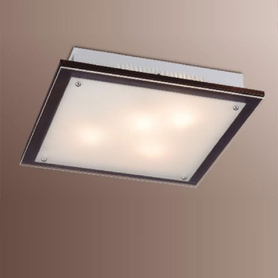 Светильник Сонекс 3242V Ferola Vengue венге/хромКвадратные<br><br><br>S освещ. до, м2: 12<br>Тип товара: Светильник настенно-потолочный<br>Тип лампы: накаливания / энергосбережения / LED-светодиодная<br>Тип цоколя: E27<br>Количество ламп: 3<br>Ширина, мм: 360<br>MAX мощность ламп, Вт: 60<br>Длина, мм: 360<br>Расстояние от стены, мм: 70<br>Цвет арматуры: серебристый
