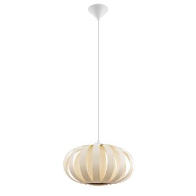 Подвес Eglo 32437 ARENELLAодиночные подвесные светильники<br><br><br>Тип лампы: Накаливания / энергосбережения / светодиодная<br>Тип цоколя: E27<br>Цвет арматуры: белый<br>Количество ламп: 1<br>Диаметр, мм мм: 450<br>Высота полная, мм: 1100<br>Поверхность арматуры: матовая<br>Оттенок (цвет): белый<br>MAX мощность ламп, Вт: 60