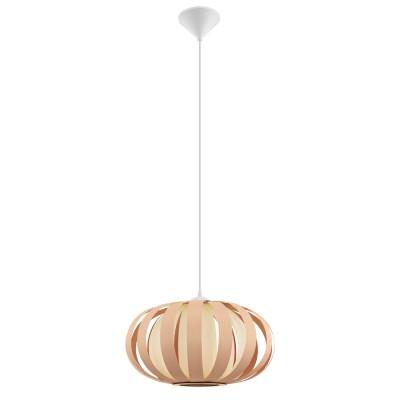 Подвес Eglo 32439 ARENELLAодиночные подвесные светильники<br><br><br>Тип лампы: Накаливания / энергосбережения / светодиодная<br>Тип цоколя: E27<br>Цвет арматуры: белый<br>Количество ламп: 1<br>Диаметр, мм мм: 450<br>Высота полная, мм: 1100<br>Поверхность арматуры: матовая<br>Оттенок (цвет): белый<br>MAX мощность ламп, Вт: 60