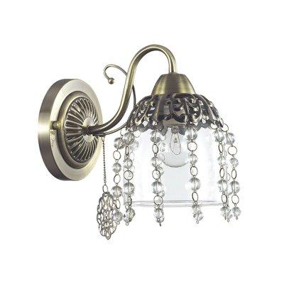 Настенный светильник бра Lumion 3244/1W DORIANAКлассические<br>Бра 3244/1W серии Doriana оформлена в классическом стиле. Светильник состоит из утонченного стеклянного плафона с ажурным металлическим декором, щедро украшенного хрустальными подвесками, и классической арматуры бронзового цвета с утонченными металлическими подвесками. Данная модель являет собой пример изящества, утонченности и великолепия.  Цоколь E14. Мощность 1x60W. Нет ламп в комплекте.<br><br>Крепление: Настенное<br>Тип лампы: накаливания / энергосбережения / LED-светодиодная<br>Тип цоколя: E14<br>Количество ламп: 1<br>Ширина, мм: 140<br>MAX мощность ламп, Вт: 60<br>Диаметр, мм мм: 220<br>Длина, мм: 220<br>Высота, мм: 210<br>Цвет арматуры: бронзовый