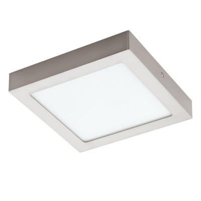 Eglo FUEVA 1 32445 Встраиваемый светильникКвадратные<br>Светодиодная ультратонкая встраиваемая панель FUEVA 1, 16,5W (LED) 4000K, 225х225, никель применяется преимущественно в домашнем освещении с использованием стандартных выключателей и переключателей для сетей 220V.<br><br>S освещ. до, м2: 7<br>Цветовая t, К: 4000<br>Тип лампы: LED - светодиодная<br>Тип цоколя: LED<br>Цвет арматуры: серебристый<br>Количество ламп: 1<br>Ширина, мм: 225<br>Длина, мм: 225<br>Высота, мм: 35<br>MAX мощность ламп, Вт: 18