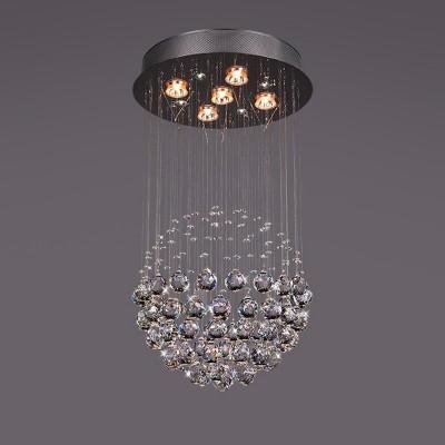 Люстра Bogateapos;s 325/5 StrotskisКаскадные<br><br><br>Установка на натяжной потолок: Да<br>S освещ. до, м2: 16<br>Крепление: Планка<br>Тип товара: Люстра<br>Тип лампы: галогенная / LED-светодиодная<br>Тип цоколя: G5.3<br>Количество ламп: 5<br>MAX мощность ламп, Вт: 50<br>Диаметр, мм мм: 400<br>Высота, мм: 710<br>Цвет арматуры: серый