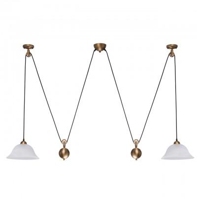 Regenbogen Ника 327010802 ЛюстраДвойные<br><br><br>S освещ. до, м2: 6<br>Тип лампы: Накаливания / энергосбережения / светодиодная<br>Тип цоколя: E27<br>Количество ламп: 2<br>MAX мощность ламп, Вт: 60<br>Высота, мм: 710