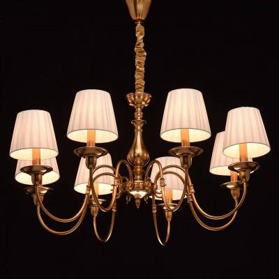 Mw light 328010408 СветильникПодвесные<br><br><br>S освещ. до, м2: 24<br>Тип лампы: Накаливания / энергосбережения / светодиодная<br>Тип цоколя: E14<br>Количество ламп: 8<br>MAX мощность ламп, Вт: 60<br>Диаметр, мм мм: 840<br>Высота, мм: 580 - 830<br>Цвет арматуры: бронзовый