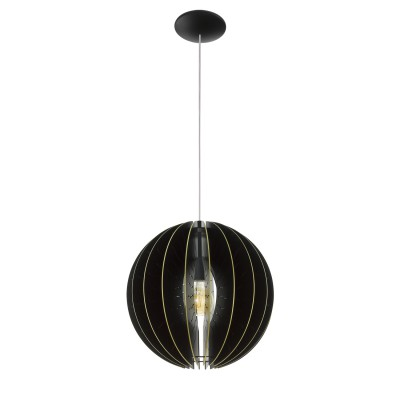 32823 Eglo - Подвес FABESSAодиночные подвесные светильники<br><br><br>Установка на натяжной потолок: Да<br>S освещ. до, м2: 3<br>Крепление: Планка<br>Тип лампы: Накаливания / энергосбережения / светодиодная<br>Тип цоколя: E27<br>Цвет арматуры: черный<br>Количество ламп: 1<br>Диаметр, мм мм: 400<br>Высота полная, мм: 1100<br>Высота, мм: 400<br>Поверхность арматуры: матовая<br>Оттенок (цвет): черный<br>MAX мощность ламп, Вт: 60
