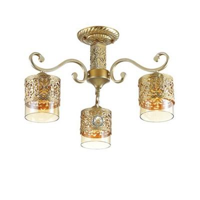 Светильник Lumion 3286/3CПотолочные<br><br><br>S освещ. до, м2: 6<br>Крепление: Потолочное<br>Тип лампы: Накаливания / энергосбережения / светодиодная<br>Тип цоколя: E27<br>Количество ламп: 3<br>MAX мощность ламп, Вт: 40<br>Диаметр, мм мм: 550<br>Высота, мм: 330