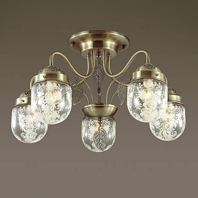 Светильник Lumion 3288/5CПотолочные<br><br><br>Тип лампы: Накаливания / энергосбережения / светодиодная<br>Тип цоколя: E14<br>Количество ламп: 5<br>MAX мощность ламп, Вт: 60<br>Диаметр, мм мм: 520<br>Высота, мм: 330