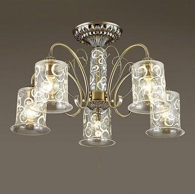 Светильник Lumion 3290/5CПотолочные<br>Белый абстрактный орнамент словно морозный узор на стекле создаст эффектное кружево. Серия выполнена в цвете бронза, компактна по высоте, оригинальна по дизайну.<br><br>Установка на натяжной потолок: Да<br>S освещ. до, м2: 15<br>Крепление: Потолочное<br>Тип лампы: Накаливания / энергосбережения / светодиодная<br>Тип цоколя: E14<br>Количество ламп: 5<br>Диаметр, мм мм: 550<br>Высота, мм: 420<br>MAX мощность ламп, Вт: 60