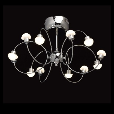 Mw light 329011512 СветильникПотолочные<br><br><br>Установка на натяжной потолок: Да<br>S освещ. до, м2: 14<br>Цветовая t, К: 4200<br>Тип лампы: LED<br>Тип цоколя: LED<br>Количество ламп: 12<br>Диаметр, мм мм: 540<br>Высота, мм: 330<br>MAX мощность ламп, Вт: 3