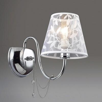 Светильник Lumion 3307/1Wсовременные бра модерн<br>Легкая, воздушная, словно парящая в воздухе модель Felikina очаровывает с первого взгляда. Особое изящество ей  придает тонкое хромированное основание, цепочки и полупрозрачный абажур.<br><br>Крепление: Настенное<br>Тип лампы: Накаливания / энергосбережения / светодиодная<br>Тип цоколя: E14<br>Количество ламп: 1<br>Ширина, мм: 150<br>Расстояние от стены, мм: 275<br>Высота, мм: 320<br>MAX мощность ламп, Вт: 40