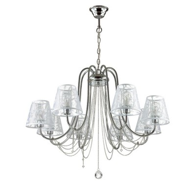 Светильник Lumion 3307/8Подвесные<br><br><br>Крепление: Потолочное<br>Тип лампы: Накаливания / энергосбережения / светодиодная<br>Тип цоколя: E14<br>Количество ламп: 8<br>MAX мощность ламп, Вт: 40<br>Диаметр, мм мм: 790<br>Высота, мм: 545 - 1015