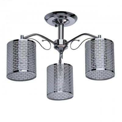 Светильник De Markt 333012403Потолочные<br><br><br>S освещ. до, м2: 9<br>Тип товара: Люстра<br>Тип лампы: накаливания / энергосбережения / LED-светодиодная<br>Тип цоколя: E27<br>Количество ламп: 3<br>MAX мощность ламп, Вт: 60<br>Диаметр, мм мм: 480<br>Высота, мм: 310<br>Цвет арматуры: серебристый