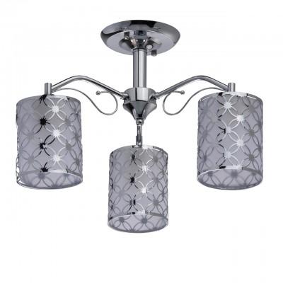 DeMarkt Скарлет 333012603 ЛюстраПотолочные<br><br><br>S освещ. до, м2: 9<br>Тип лампы: Накаливания / энергосбережения / светодиодная<br>Тип цоколя: E27<br>Количество ламп: 3<br>MAX мощность ламп, Вт: 60<br>Диаметр, мм мм: 480<br>Высота, мм: 300