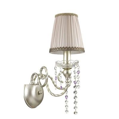 Odeon light AURELIA 3390/1W Светильник настенный браклассические бра<br><br><br>Тип лампы: Накаливания / энергосбережения / светодиодная<br>Тип цоколя: E14<br>Количество ламп: 1<br>Ширина, мм: 280<br>Расстояние от стены, мм: 260<br>Высота, мм: 390<br>MAX мощность ламп, Вт: 40