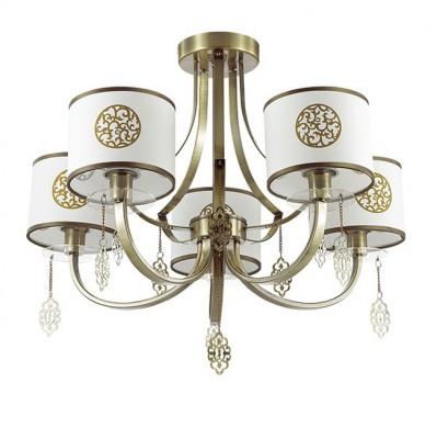 Светильник Lumion 3399/5CПотолочные<br><br><br>S освещ. до, м2: 10<br>Крепление: Потолочное<br>Тип лампы: Накаливания / энергосбережения / светодиодная<br>Тип цоколя: E14<br>Количество ламп: 5<br>MAX мощность ламп, Вт: 40<br>Диаметр, мм мм: 580<br>Высота, мм: 480