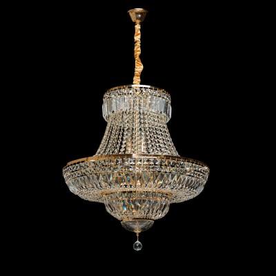 Люстра Chiaro 340011409 ДианаПодвесные<br>Описание модели 340011409: Роскошные переливы, помпезный, торжественный стиль -  люстра из коллекции «Диана» - настоящее произведение искусства. Металлическое основание цвета французского золота в сочетании с декоративными элементами из высококачественного хрусталя различных видов огранки создают ощущение, что перед нами драгоценность, воплощение которой требует поистине филигранной работы. Люстра театрального типа для помещений с высокими потолками, состоит из нескольких ярусов, что придает неповторимое и торжественное величие, такой предмет интерьера достоин царских покоев. Множество мерцающих капель хрусталя создают великолепную, многогранную, непередаваемую игру света. Снизу люстра декорирована хрустальной чашей. Хрусталь скреплен в хрустальные нити с помощью папильонов в форме маленьких бабочек. Если вы ценитель эксклюзивной роскоши, лучшего варианта, чтобы подчеркнуть свой безупречный вкус, не найти. Площадь освещения порядка 18 кв.м.<br><br>Установка на натяжной потолок: Да<br>S освещ. до, м2: 18<br>Крепление: Крюк<br>Тип товара: Люстра<br>Тип лампы: накал-я - энергосбер-я<br>Тип цоколя: E14<br>Количество ламп: 9<br>MAX мощность ламп, Вт: 40<br>Диаметр, мм мм: 660<br>Длина цепи/провода, мм: 270<br>Высота, мм: 1200<br>Цвет арматуры: золотой