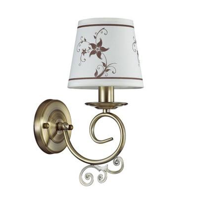 Светильник Lumion 3405/1WКлассические<br>Tierri создана для ценителей неуходящей классики: легкая, грациознаяс оригинальными декорами  всегда будет радовать глаз владельца.<br><br>Крепление: Настенное<br>Тип лампы: Накаливания / энергосбережения / светодиодная<br>Тип цоколя: E14<br>Количество ламп: 1<br>Ширина, мм: 135<br>Расстояние от стены, мм: 190<br>Высота, мм: 300<br>MAX мощность ламп, Вт: 40