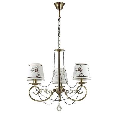 Светильник Lumion 3405/3Подвесные<br><br><br>S освещ. до, м2: 6<br>Крепление: Потолочное<br>Тип лампы: Накаливания / энергосбережения / светодиодная<br>Тип цоколя: E14<br>Количество ламп: 3<br>MAX мощность ламп, Вт: 40<br>Диаметр, мм мм: 560<br>Высота, мм: 620 - 910<br>Цвет арматуры: бронзовый