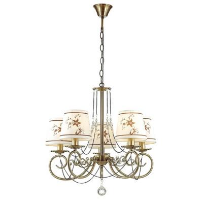 Светильник Lumion 3405/5Подвесные<br>Tierri создана для ценителей неуходящей классики: легкая, грациознаяс оригинальными декорами  всегда будет радовать глаз владельца.<br><br>Установка на натяжной потолок: Да<br>S освещ. до, м2: 10<br>Крепление: Потолочное<br>Тип лампы: Накаливания / энергосбережения / светодиодная<br>Тип цоколя: E14<br>Цвет арматуры: бронзовый<br>Количество ламп: 5<br>Диаметр, мм мм: 560<br>Высота, мм: 620 - 910<br>MAX мощность ламп, Вт: 40