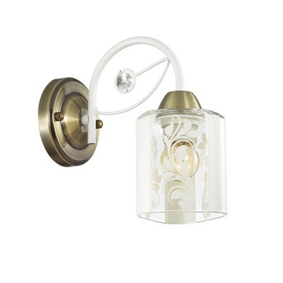 Светильник Lumion 3407/1WМодерн<br><br><br>Крепление: Настенное<br>Тип лампы: Накаливания / энергосбережения / светодиодная<br>Тип цоколя: E14<br>Количество ламп: 1<br>Ширина, мм: 120<br>MAX мощность ламп, Вт: 40<br>Расстояние от стены, мм: 213<br>Высота, мм: 220
