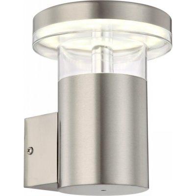 Светильник Globo 34145 SergioНастенные<br><br><br>Тип товара: Светильник уличный<br>Скидка, %: 21<br>Тип лампы: LED - светодиодная<br>Тип цоколя: LED<br>Количество ламп: 1<br>Ширина, мм: 120<br>MAX мощность ламп, Вт: 6<br>Высота, мм: 157<br>Цвет арматуры: серебристый