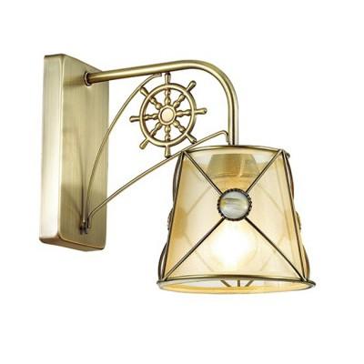 Светильник Lumion 3419/1WМорской стиль<br><br><br>Крепление: Настенное<br>Тип лампы: Накаливания / энергосбережения / светодиодная<br>Тип цоколя: E14<br>Количество ламп: 1<br>Ширина, мм: 140<br>MAX мощность ламп, Вт: 60<br>Расстояние от стены, мм: 250<br>Высота, мм: 240