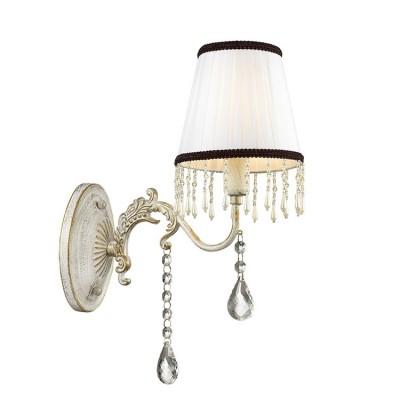 Светильник Lumion 3422/1WКлассические<br><br><br>Крепление: Настенное<br>Тип лампы: Накаливания / энергосбережения / светодиодная<br>Тип цоколя: E14<br>Количество ламп: 1<br>Ширина, мм: 145<br>MAX мощность ламп, Вт: 60<br>Расстояние от стены, мм: 214<br>Высота, мм: 330
