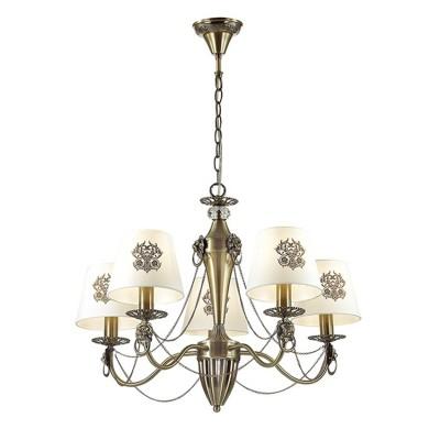 Светильник Lumion 3427/5Подвесные<br><br><br>S освещ. до, м2: 10<br>Крепление: Потолочное<br>Тип лампы: Накаливания / энергосбережения / светодиодная<br>Тип цоколя: E14<br>Количество ламп: 5<br>MAX мощность ламп, Вт: 40<br>Диаметр, мм мм: 630<br>Высота, мм: 465 - 935