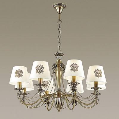 Светильник Lumion 3427/8Подвесные<br><br><br>S освещ. до, м2: 16<br>Крепление: Потолочное<br>Тип лампы: Накаливания / энергосбережения / светодиодная<br>Тип цоколя: E14<br>Количество ламп: 8<br>MAX мощность ламп, Вт: 40<br>Диаметр, мм мм: 750<br>Высота, мм: 465 - 935
