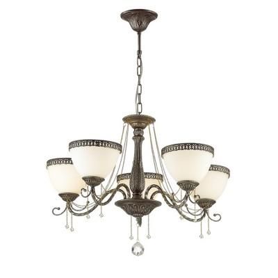 Светильник Lumion 3428/5Подвесные<br><br><br>S освещ. до, м2: 10<br>Крепление: Потолочное<br>Тип лампы: Накаливания / энергосбережения / светодиодная<br>Тип цоколя: E14<br>Количество ламп: 5<br>MAX мощность ламп, Вт: 40<br>Диаметр, мм мм: 630<br>Высота, мм: 400 - 870